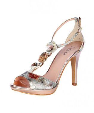 Exkluzívne sandále s kvetmi HEINE