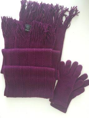 Fialová pletená súprava
