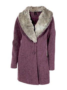 Fialový vlnený kabát HEINE - B.C.