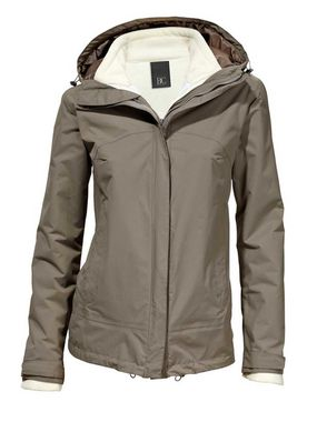 Funkčná bunda 2-v-1, hnedo-biela