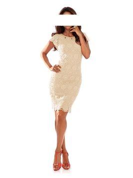 Elegantné háčkované šaty Ashley Brooke