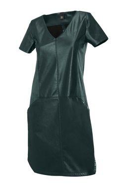 HEINE šaty zelené - imitácia kože