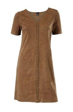 Hnedé cowgirl šaty, imitácia kože