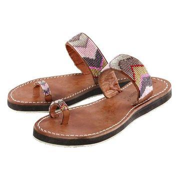 Hnedé kožené sandálky Laidback London