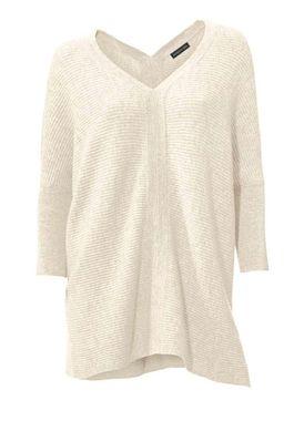 Kašmírový sveter, krémový PATRIZIA DINI