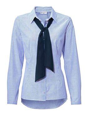 Klasická modro-biela košeľa s mašľou