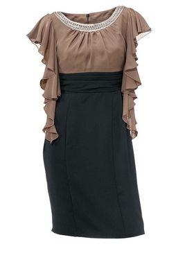 Kokteilové šaty s volánmi Ashley Brooke