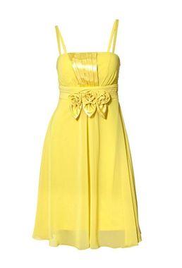 Kokteilové žlté šaty Ashley Brooke