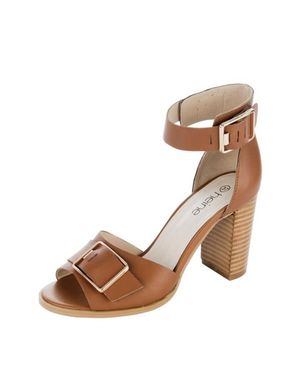 Koňakové sandále so sponou HEINE