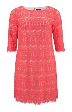 Koralové čipkované šaty Jessica Howard