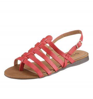 Koralové sandále s remienkami City Walk