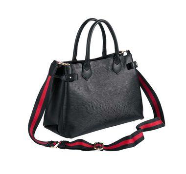 Kožená čierna kabelka Collezione Alessandro