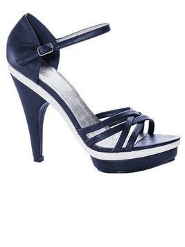 Kožené modré sandále s remienkom HEINE