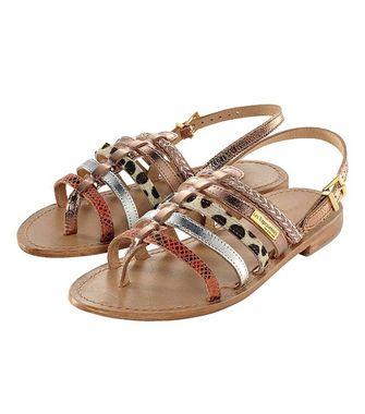 Kožené sandále s remienkami Les Tropéziennes
