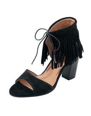Kožené sandále so strapcami Heine