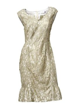 Krajkové šaty zlato-lesklé S. Madan