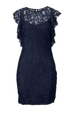 Kráľovsky modré čipkované šaty VERO MODA