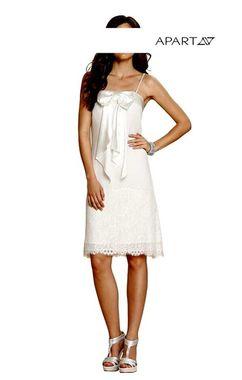 Krátke svadobné šaty s čipkou APART