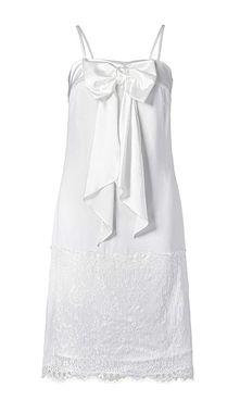 Krátke biele šaty s čipkou APART
