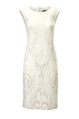 Krémové žakarové šaty