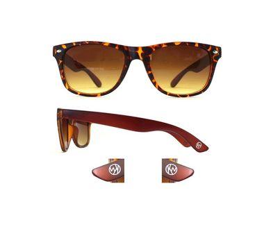KW slnečné okuliare vzorované Santorini - hnedé