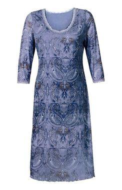 Levanduľové šaty s čipkou Sheego