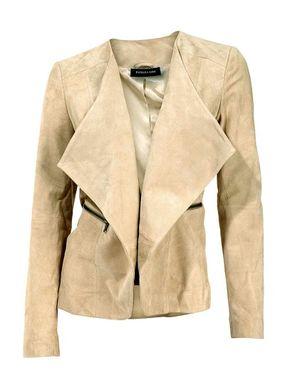 Ležérna kožená bunda s golierom Patrizia Dini