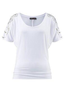 Ležérne padavé tričko s kamienkami Melrose