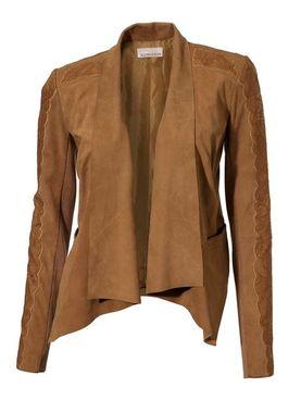 Mäkulinká kožená bunda s čipkou
