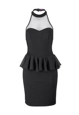 Malé čierne peplum šaty BUFFALO