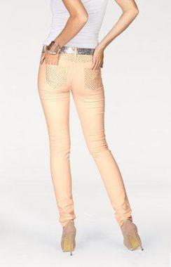 Marhuľové džínsy s trblietkami Melrose