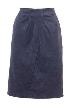 Modrá sukňa velúrová imitácia kože