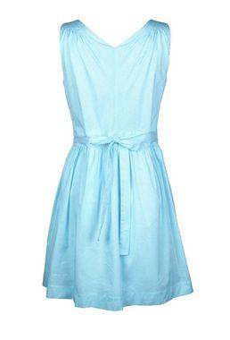 Nebesky modré šaty s mašlou