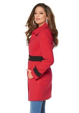 Očarujúci červený kabát Melrose
