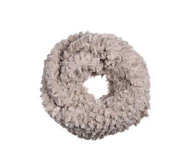 Okrúhly šál z umelej kožušiny - béžová