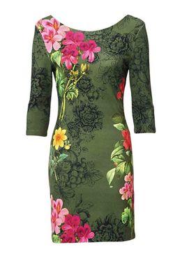 Olivové šaty Desigual