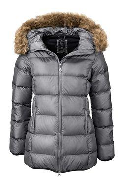 Páperová sivá bunda s kapucňou BOYSENS