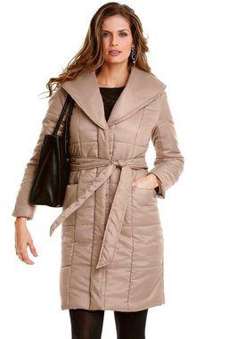 Prešívaný kabát s golierom