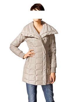 Prešívaný kabát s golierom Mandarin