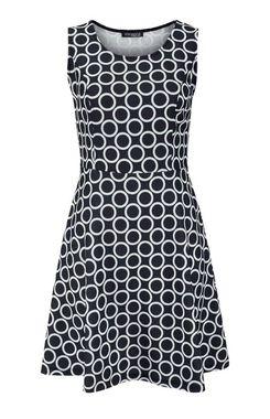 Princess šaty z kolekcie Vivance, čierno -biele