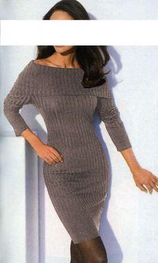 Príťažlivé pletené šaty s kašmírom Ashley Brooke