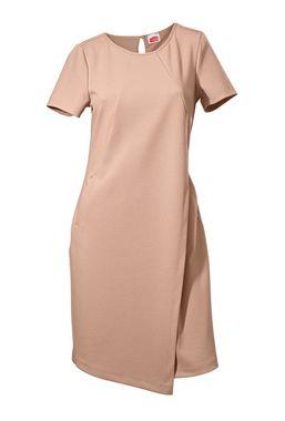Púdrovo-ružové polopúzdrové šaty
