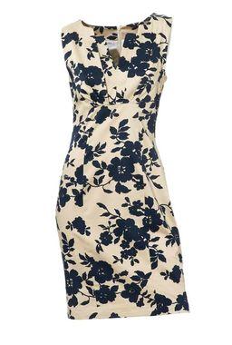 Púzdrové šaty béžovo-modré, Ashley Brooke