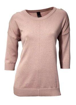 Ružový pulóver so zipsami HEINE - B.C.