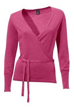 Ružový zavinovací sveter HEINE - B.C.