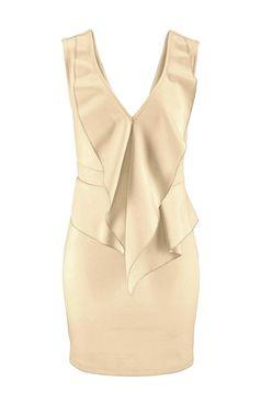 Šaty s volánmi šampanské