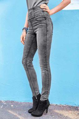Sivé jeggins Aniston s vysokým pásom