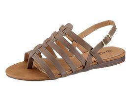 Sivobéžové sandále City Walk