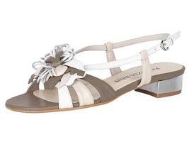 Sivobéžové sandále s kvetom Patrizia Dini