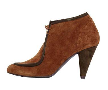 Škoricové členkové topánky Patrizia Dini